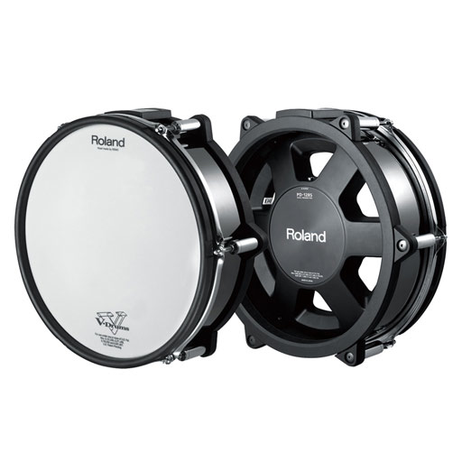 Roland PD-128S-BC 12 Inch Dual Trigger Mesh V-Pad (Snare-Black Chrome) - Bananas at Large