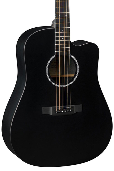 Martin DCXAE Black X-Series Dreadnought Acoustic Electric Guitar