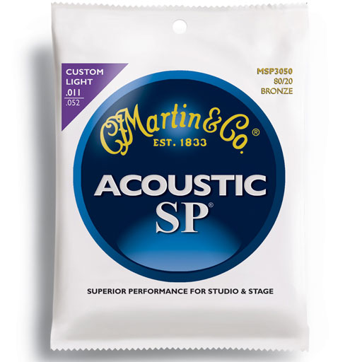 Martin MSP3050 SP 80/20 Bronze Custom Light Acoustic Guitar Strings .011-147.6 - Bananas at Large