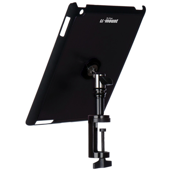 On-Stage TCM9163B iPad Snap-on Cover with Table Clamp - Black - Bananas at Large - 1