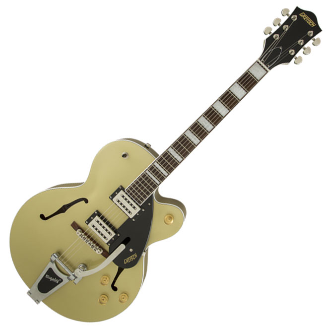 Gretsch G2420T Streamliner Hollow Body with Bigsby and Broad'Tron Pickups - Gold Dust - Bananas at Large - 1