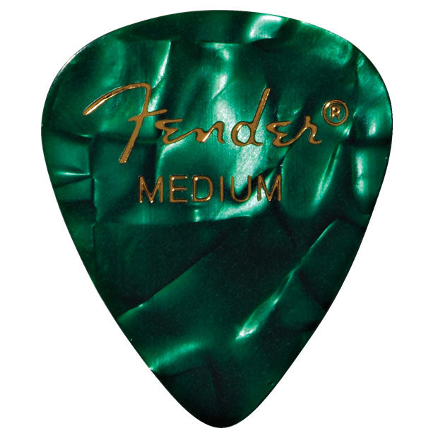 Fender 12 Pack 351 Shape Medium Guitar Picks - Green Moto