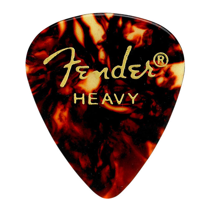 Fender 12 Pack 351 Shape Heavy Guitar Picks - Tortoise Shell