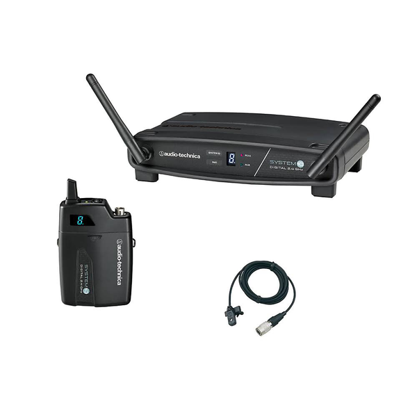 Audio Technica ATW-1101/L System 10 Digital Wireless Lavalier Microphone System - Bananas At Large®