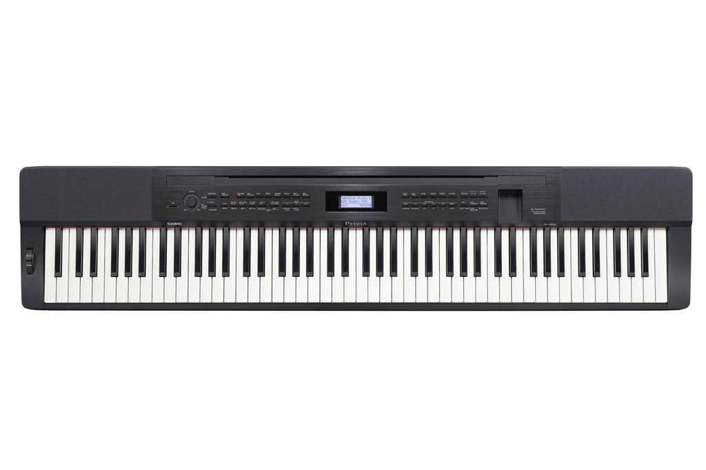 Casio PX-350MBK Privia 88-Key Scaled Hammer Action Piano Bundle CS67BK STAND - Bananas At Large®