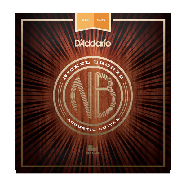 D'Addario NB1256 Nickel Bronze Light Top/Medium Bottom Acoustic Guitar Strings 12-56 - Bananas at Large