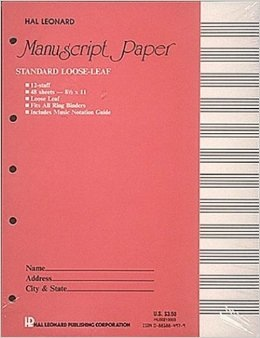 STANDARD LOOSE LEAF MANUSCRIPT PAPER (PINK COVER) - Bananas at Large