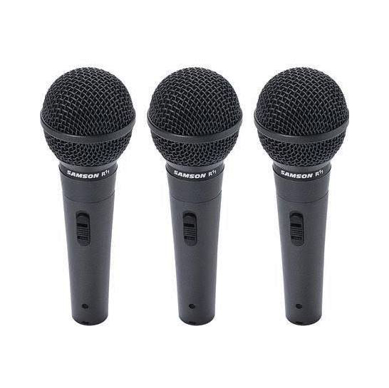 Samson SAR11 Dynamic Cardioid Handheld Mic, 3-Pack - Bananas at Large