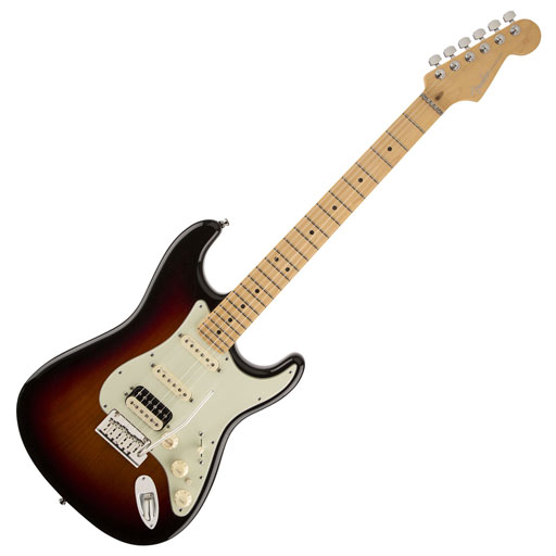 Fender American DLX Stratocaster HSS SHAW MN 3TSB - Bananas At Large®