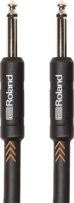 Roland RIC-B20 Black Series 20ft Instrument Cable with Straight 1/4 in. jack - Bananas at Large