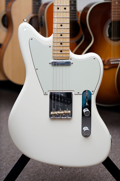 Fender Limited Edition American Standard Offset Telecaster with Maple Fingerboard - Olympic White - Bananas At Large®