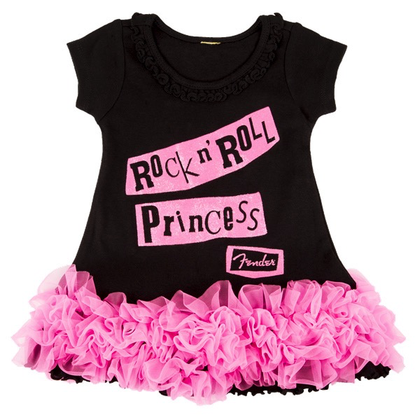 Fender Rock N Roll Princess Dress, Black, 4yr - Bananas at Large - 1