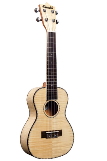Amahi UK550C Concert Classic Flamed Maple Ukulele with Gig Bag