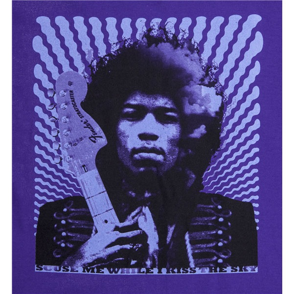 Fender Jimi Hendrix Kiss the Sky T-Shirt - Small, Purple - Bananas At Large®