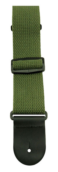 Henry Heller HCOT2 2 in. Cotton Guitar Strap - Green - Bananas at Large
