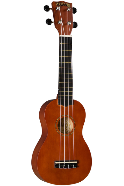 Hamano U-30BR Soprano Ukulele with Bag - Brown - Bananas at Large - 1