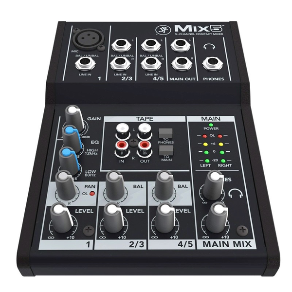 Mackie Mix5 Mix 5-channel Compact Mixer - Bananas at Large