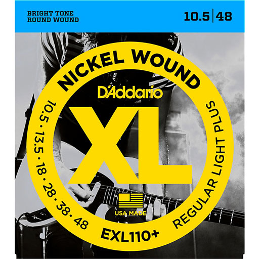 DAddario EXL110 Nickel Wound Electric Guitar Strings Regular Light-Plus - Bananas At Large®