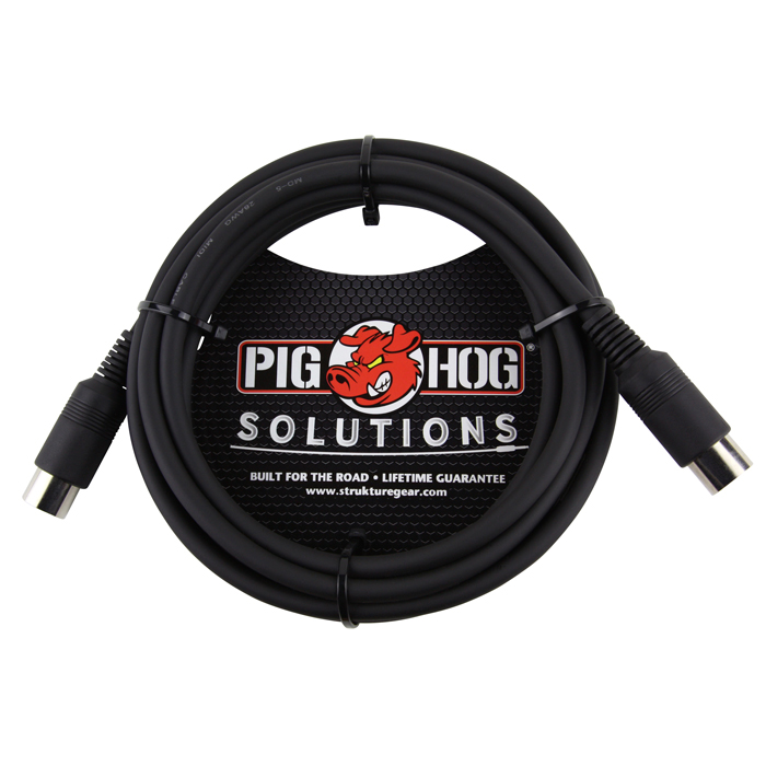 Pig Hog PMID10  Solutions 10ft MIDI Cable - Bananas at Large