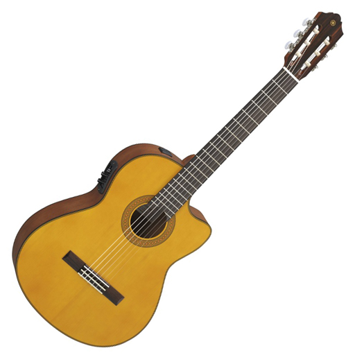 Yamaha CGX122MCC Acoustic Electric Classical Guitar with Cedar Top Olid Western Red - Bananas at Large