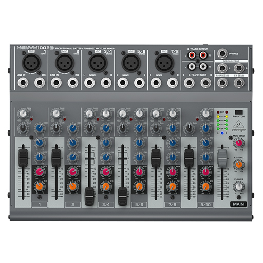 Behringer Premium 10-Input 2-Bus Mixer with XENYX Preamps, British EQs and Optional Battery Operation - Bananas at Large
