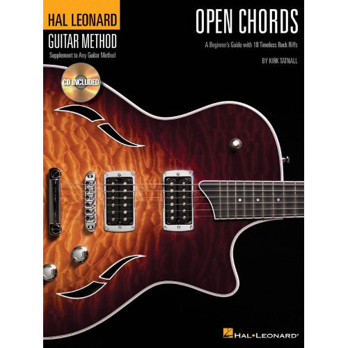 Hal Leonard Open Chords A Beginner's Guide with 18 Timeless Rock Riffs - Bananas At Large®