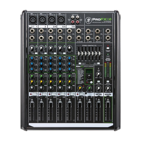 Mackie ProFX8v2 ProFX 8-channel Professional Effects Mixer with USB - Bananas at Large