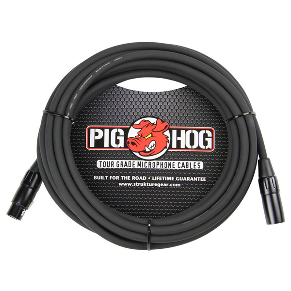 Pig Hog PHM20 8mm Mic Cable, 20ft XLR - Bananas at Large