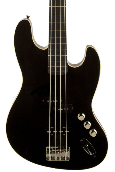 Fender Aerodyne Jazz Bass with Stained Rosewood Fretboard - Black