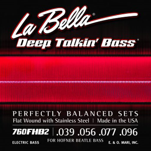 La Bella 760FHB2 Beatle Bass Stainless Steel Flat Wound - Bananas at Large