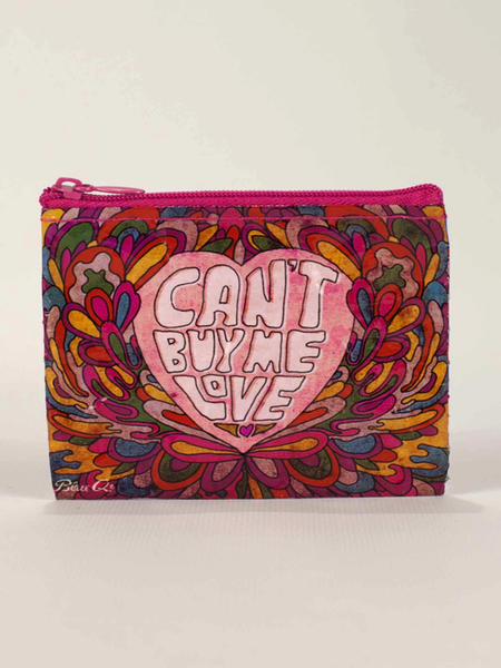 Blue Q Cant Buy Me Love Coin Purse - Bananas At Large®