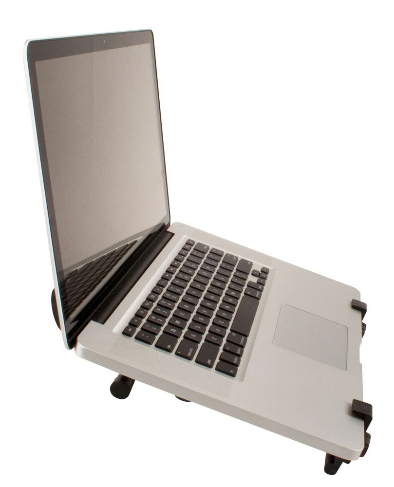 Ultimate Support HYM-100QR Hyper Series Desktop and 5/8 in. Thread Mountable Laptop/DJ Stand - Bananas at Large - 3