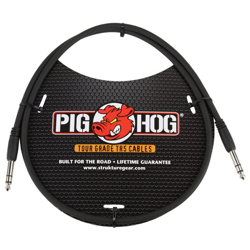 Pig Hog PTRS03 3ft 1/4 in. TRS - 1/4 in. TRS Cable - Bananas at Large