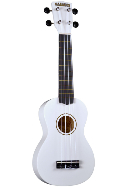 Hamano U-30WH Soprano Ukulele with Bag - White - Bananas at Large - 1