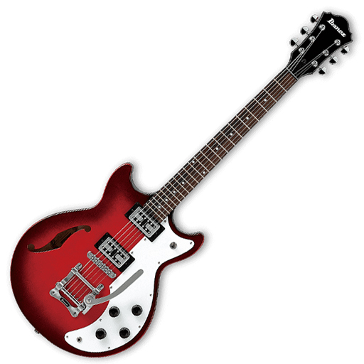 Ibanez Artcore AMF73T Semi-Hollow Electric Guitar - Sunset Red (Clearance All Sales Final) - Bananas at Large