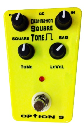 OPTION 5 Destination Square Tone Fuzz Pedal - Bananas at Large