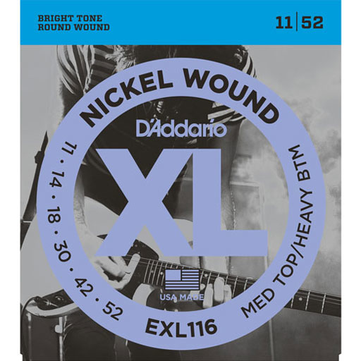 DAddario EXL116 Nickel Wound Medium Top Heavy Bottom 11-52 - Bananas at Large