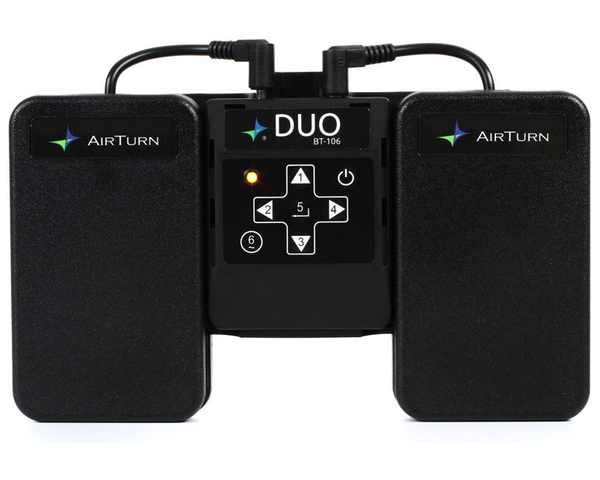 Airturn DUO 2-Pedal BlueTooth Hands Free Page Turner for Computers and Tablets - Bananas at Large