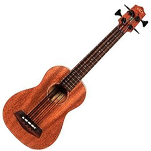Kala KA-UBASSFS Solid Mahogany U-BASS - Fretted with Case - Bananas At Large®