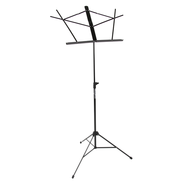 Strukture SMS1-BK 3-Part Adjustable Music Stand with Bag - Gloss, Black Licorice - Bananas at Large