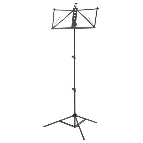 Strukture S3MS-BK Deluxe Aluminum Music Stand w/Adjustable Tray - Black - Bananas at Large