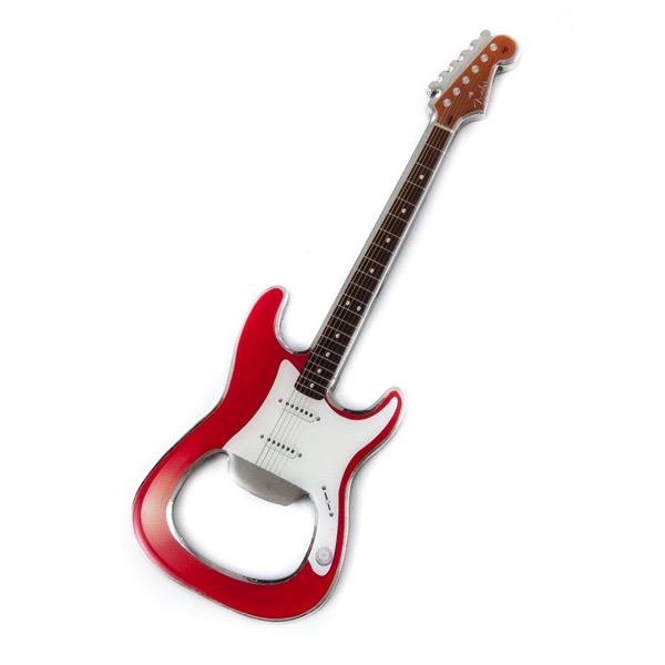 Fender Stratocaster Bottle Opener, Red - Bananas At Large®