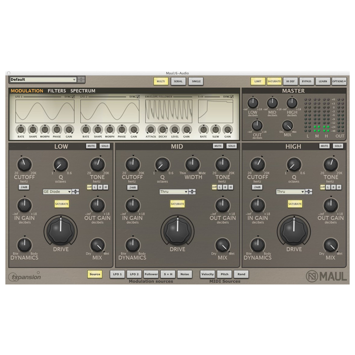 FXpansion Maul Multi-band distortion tone-shaping [Download] - Bananas At Large®