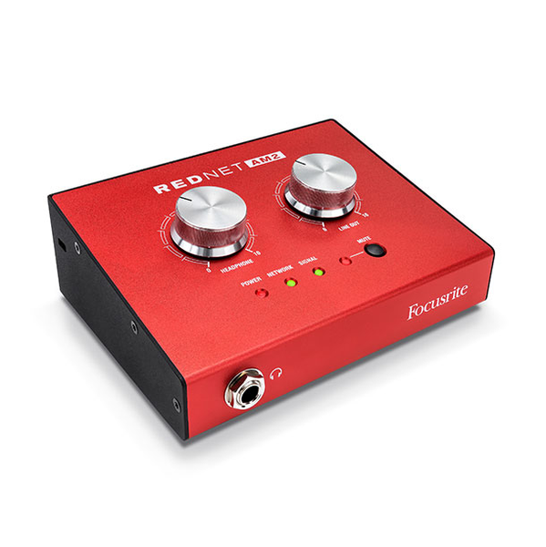 Focusrite REDNET AM2 Stereo Dante Headphone Amplifier and Line Output Interface Solution with PoE