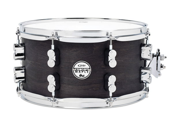 PDP PDSN0713BWCR Concept Series Maple Black Wax 7x13 Snare Drum