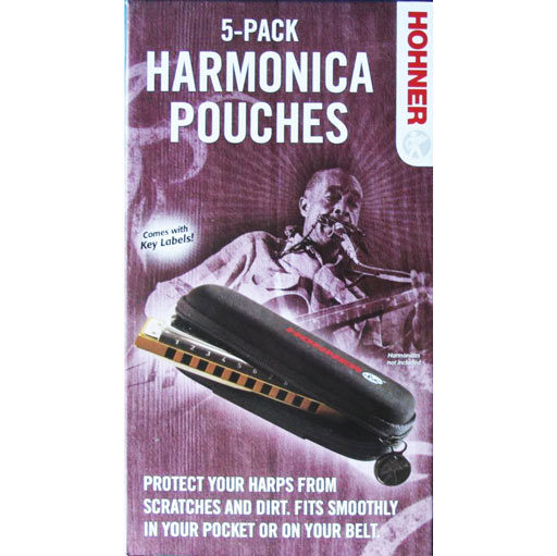 Hohner HPN5 Harmonica Pouch 5-Pack - Bananas at Large