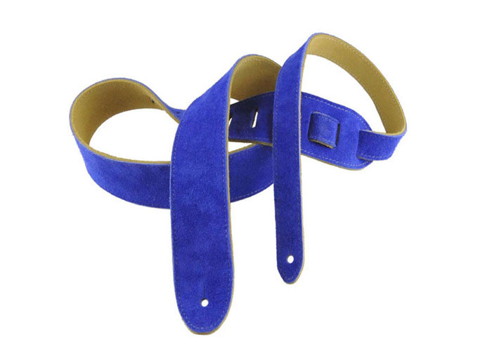 Henry Heller HBS2 2 in. Super Soft Suede Guitar Strap - Blue - Bananas at Large