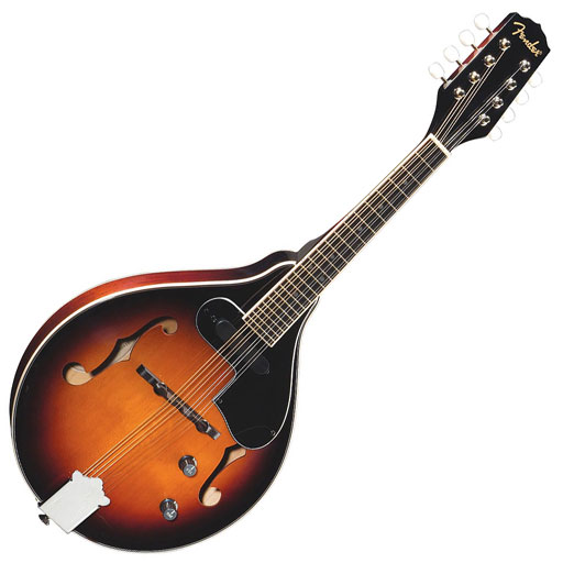 Fender FM-52E Mandolin, Electric, A Style, Special Design Single-Coil Pickup, Spruce top - Bananas at Large