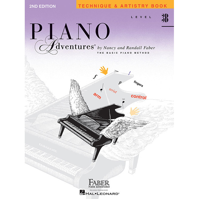 Hal Leonard Piano Adventures Level 3B Technique and Artistry Book 2nd Edition - Bananas At Large®