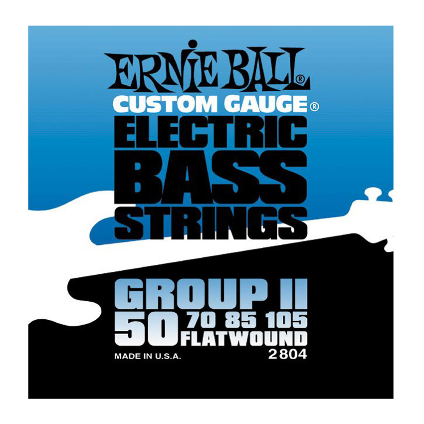 Ernie Ball P02804 Flatwound Group II Electric Bass Strings - Bananas At Large®